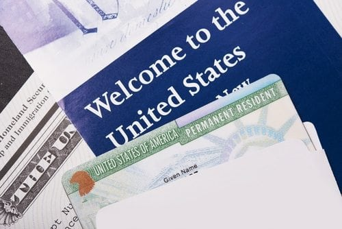 paper saying welcome to the united states
