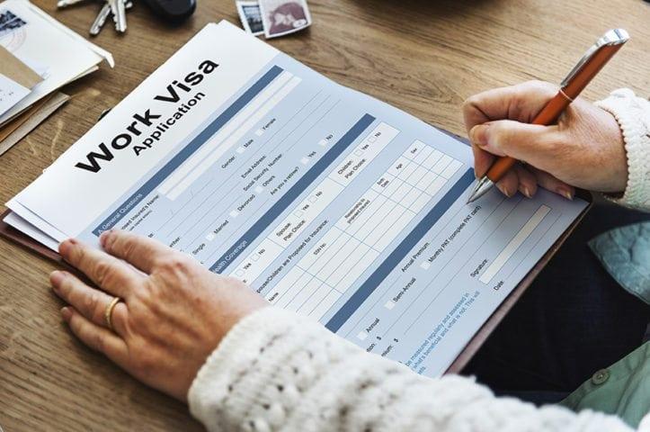 work visa paperwork